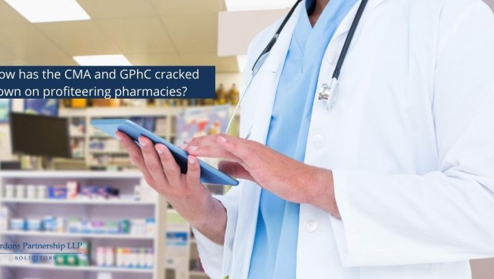 How has the CMA and GPhC cracked down on profiteering pharmacies?